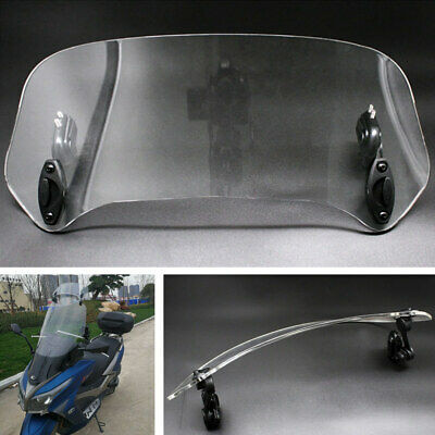 1x Adjustable Motorcycle Transparent Windscreen Windshield Spoiler Air