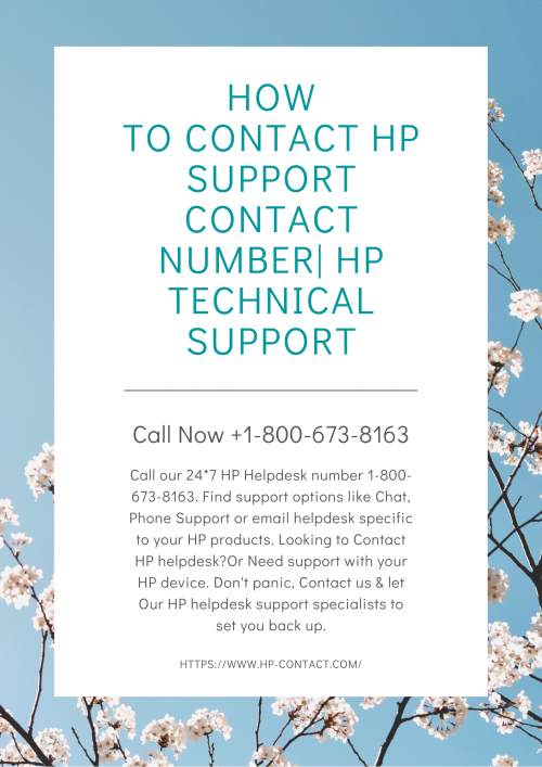 How to contact hp support contact number